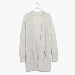 Madewell Kent Gray Heather Fog Cardigan Large NWT